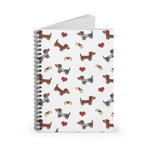 Adorable Doxie Dachshund Spiral Notebook
