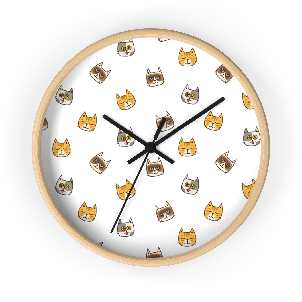 Cute Cats Kitty Wall Clock