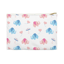 Load image into Gallery viewer, Happy Cute Elephants Accessory Pouch