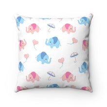 Load image into Gallery viewer, Cute Elephants Pillow Cover Case
