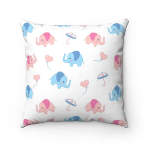 Cute Elephants Pillow Cover Case