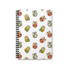 Load image into Gallery viewer, Adorable Owls Spiral Notebook with Ruled Line