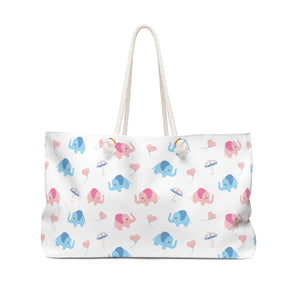 Happy Cute Elephant Weekend Shoulder Bag