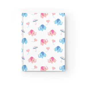 Happy Cute Elephants Hardcover Notebook Journal