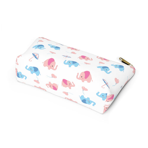Elephants Accessory Pouch with T-bottom