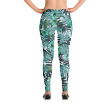 Load image into Gallery viewer, Green Floral Nature Leggings