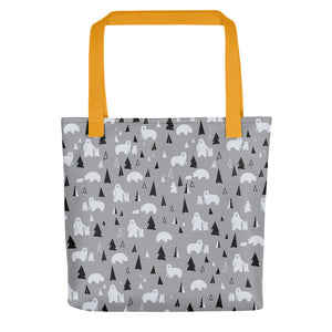 Polar Bear All-Over Print Tote Bag