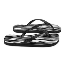 Load image into Gallery viewer, All-over Zebra Flip-Flops