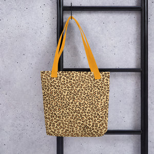 Leopard Brown All-Over Print Tote Bag