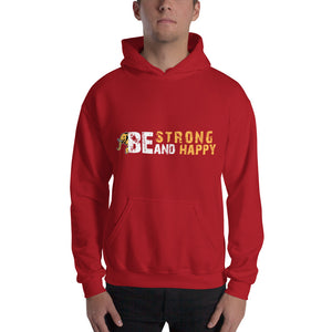 Be Strong and Happy Unisex Elephant and Hooded Sweatshirt