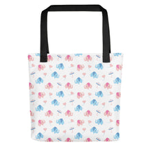 Load image into Gallery viewer, Happy Cute Elephants Tote bag