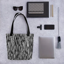 Load image into Gallery viewer, All Over Zebra Print Tote Bag