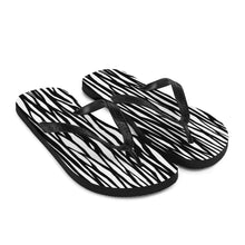 Load image into Gallery viewer, Zebra Flip Flops