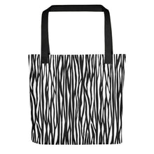 Load image into Gallery viewer, All-Over Zebra Print Tote Bag