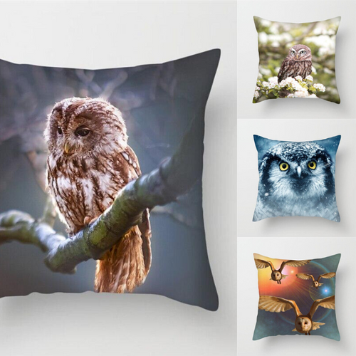 Olws and Birds Pillow Covers for Decoration