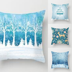 Christmas and Winter Pillow Covers for Decoration