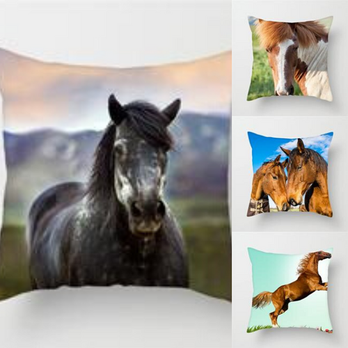 Horse Pillow Cover Cases