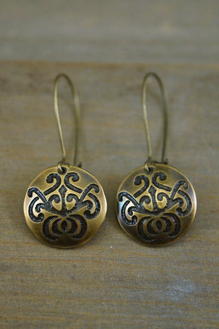 Earrings - Damask Earrings - Pangea Handmade - 1