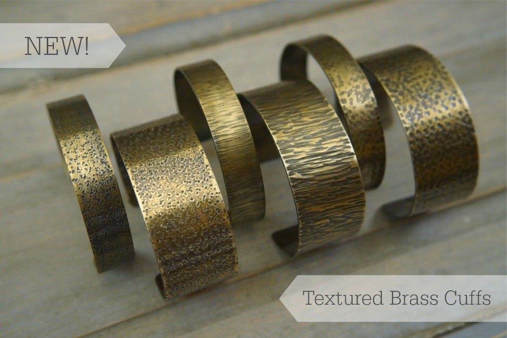 Shop our new collection of textured brass cuffs!