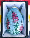 Fireweed Egg Ornament