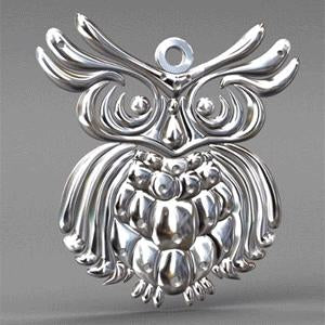Owl Pendant and Chain