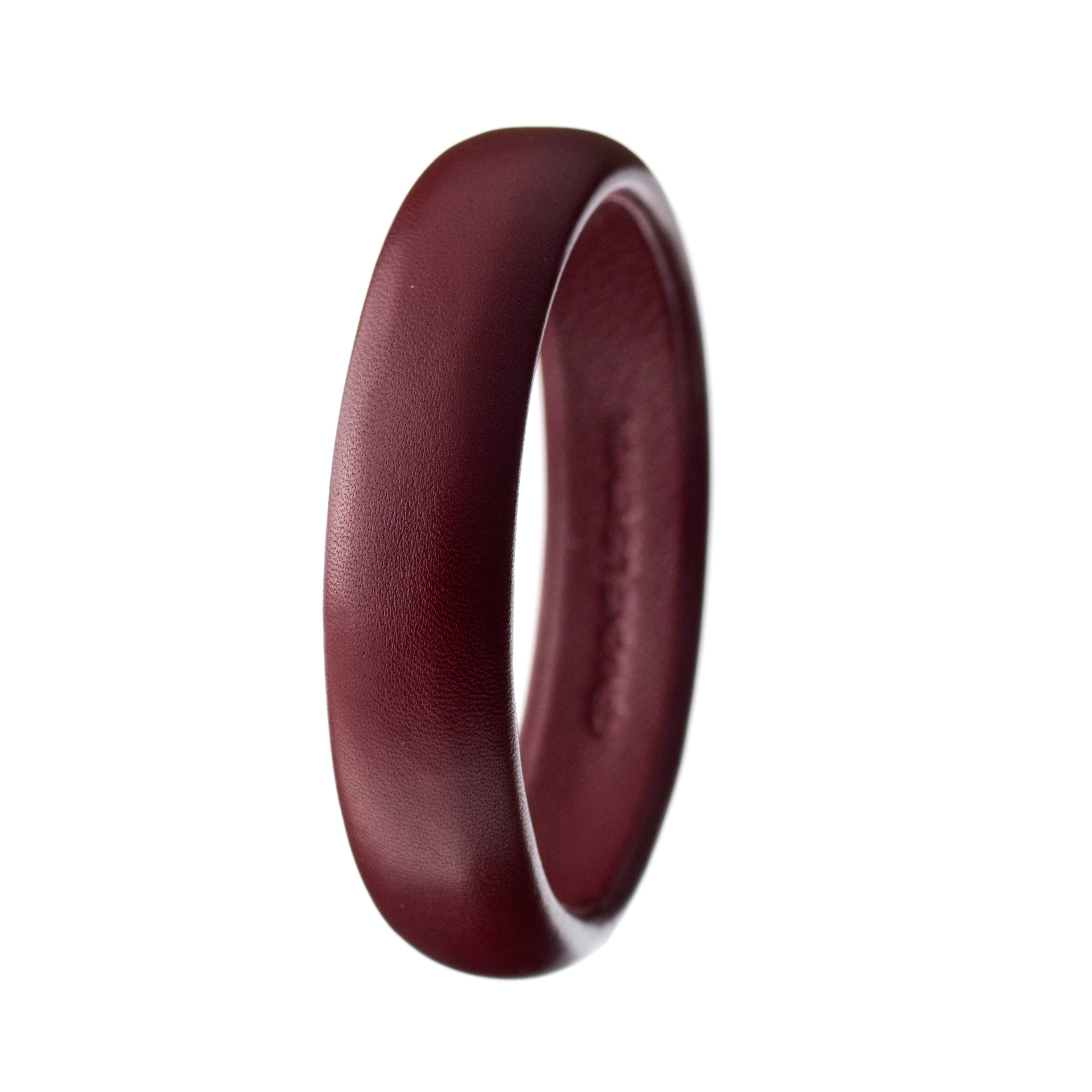 Set of three Luxe Leather Bangles ~ Gold, Burgundy and Brown