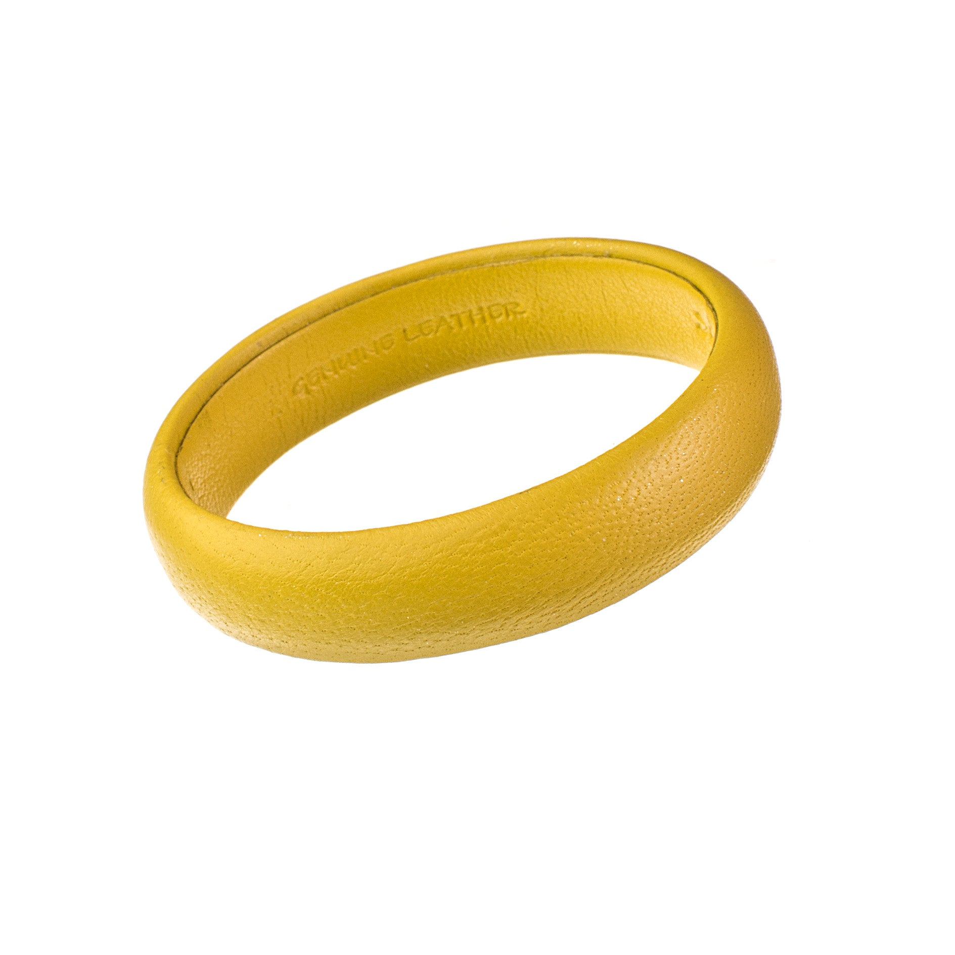 Dark Yellow Mini Leather Bangle Bracelet sd1Twenty5 single