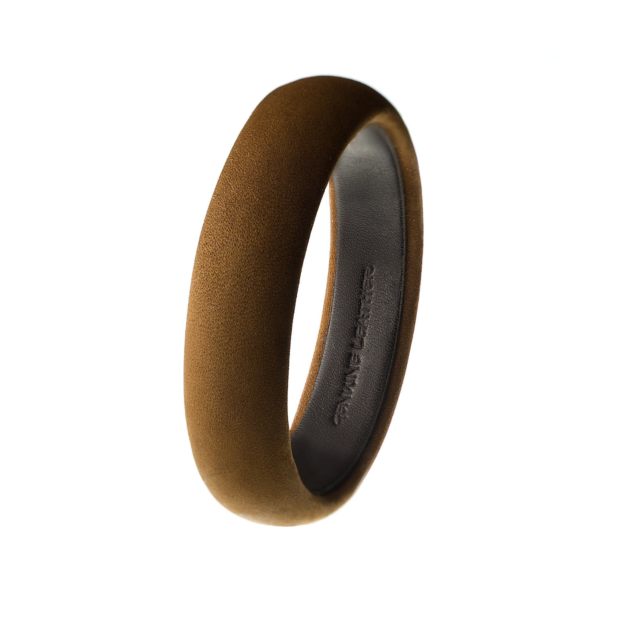The Aria Bangle ~ Soft Italian Brown Nubuck Suede Leather Bangle Bracelet