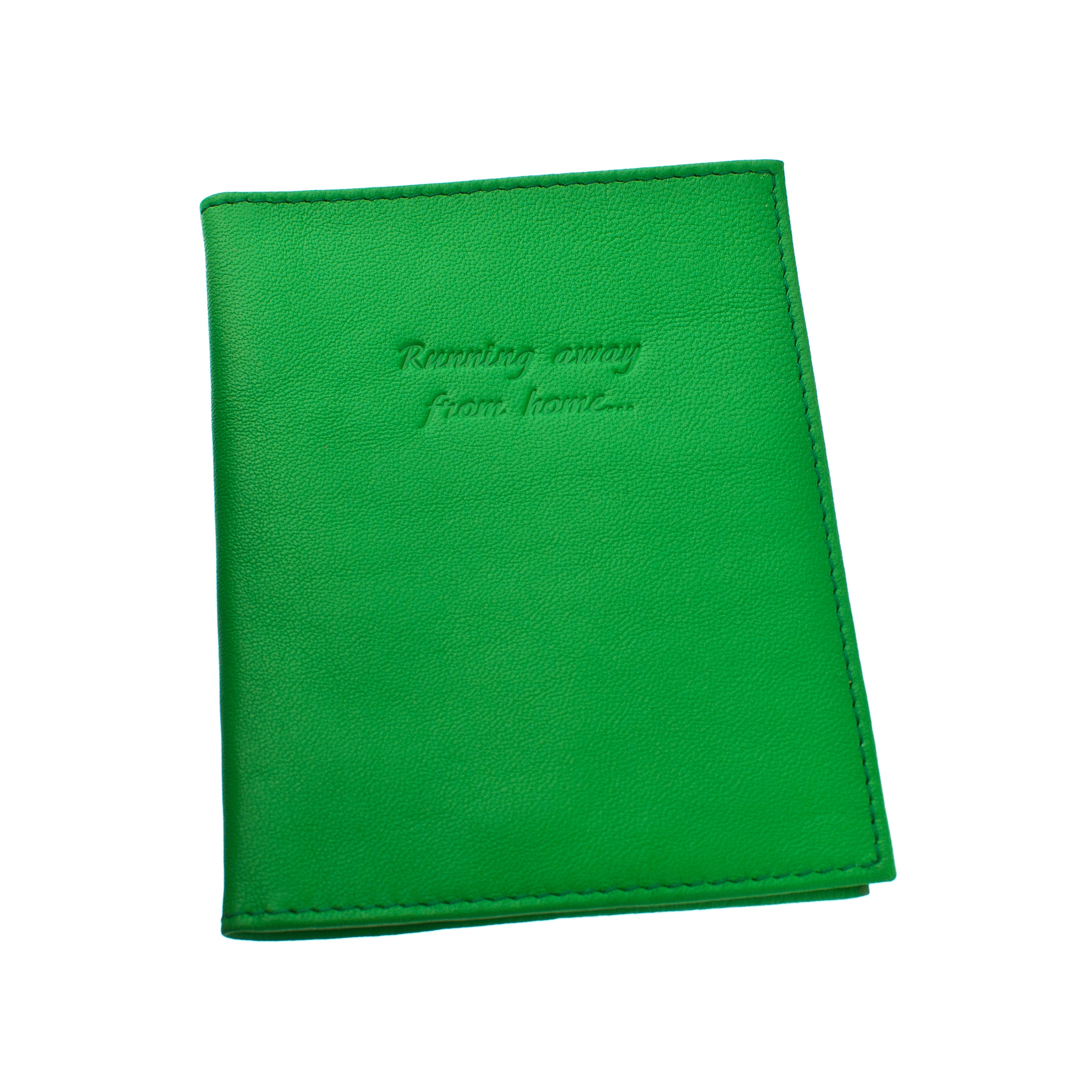 Deluxe Passport Cover with Card Slots ~ Shamrock Green Genuine Leather