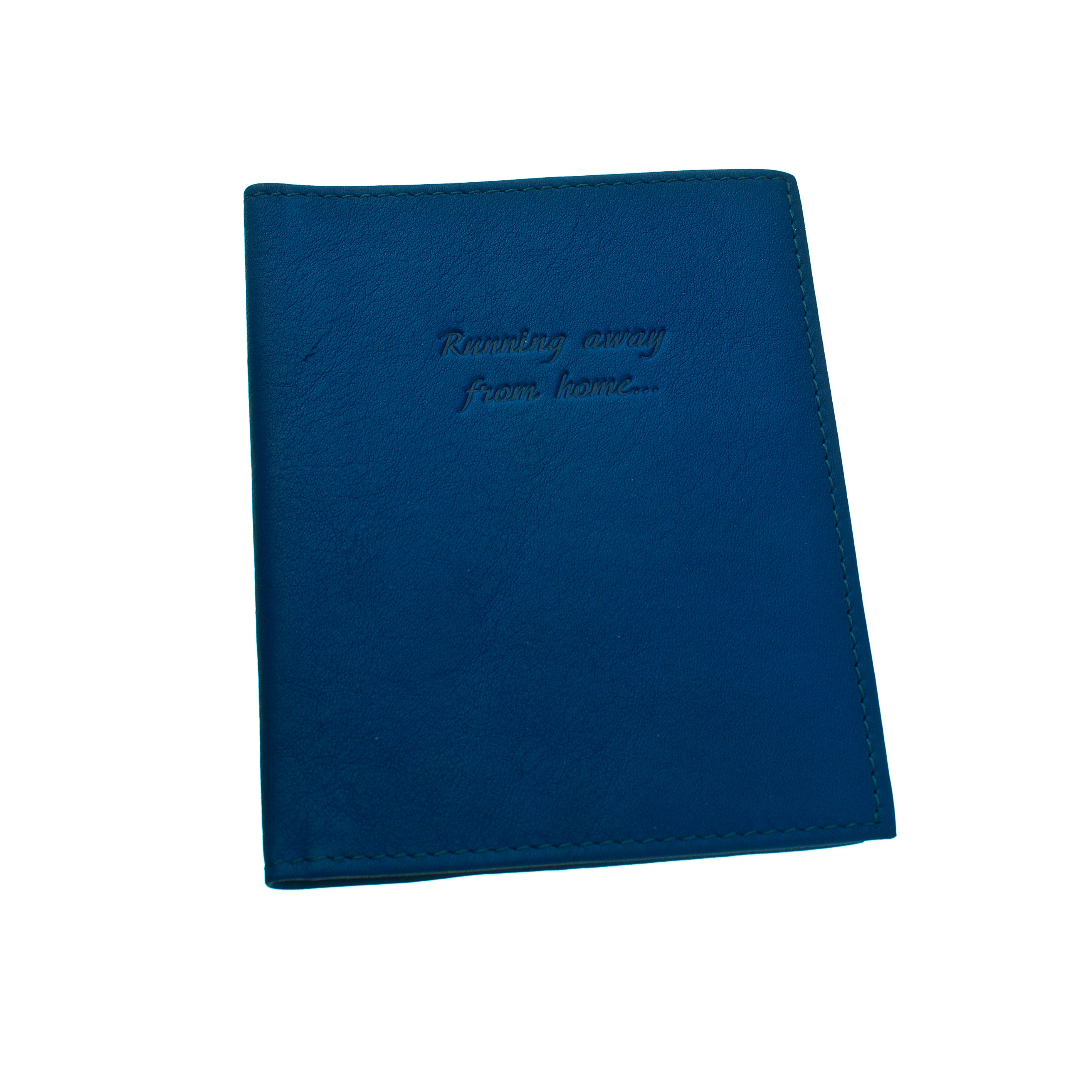 Royal Blue genuine leather passport cover case wallet sd1twenty5