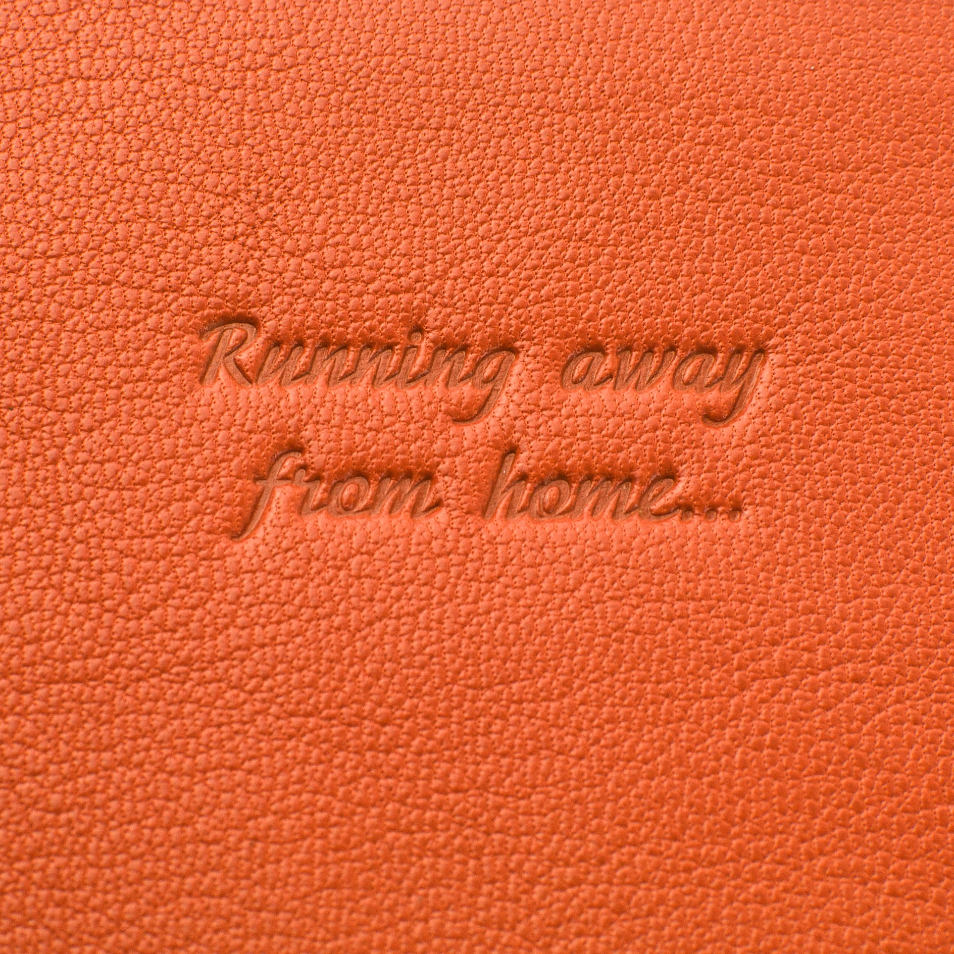 Deluxe Passport Cover with Card Slots ~ Burnt Orange Genuine Leather