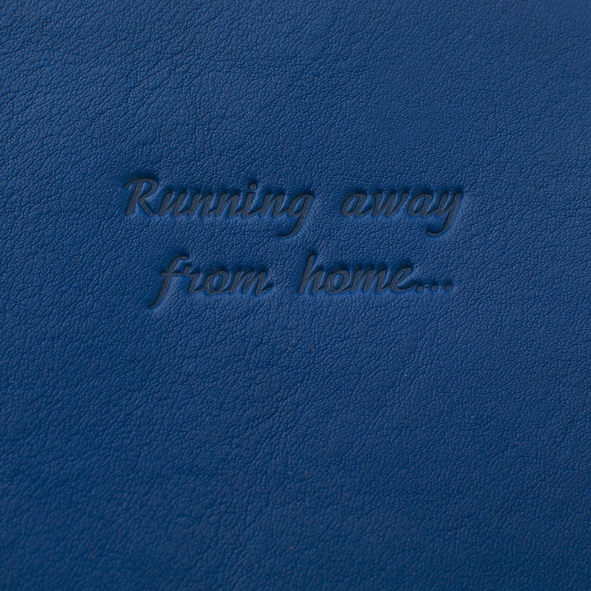 Classic Passport Cover ~ Royal Blue Genuine Leather