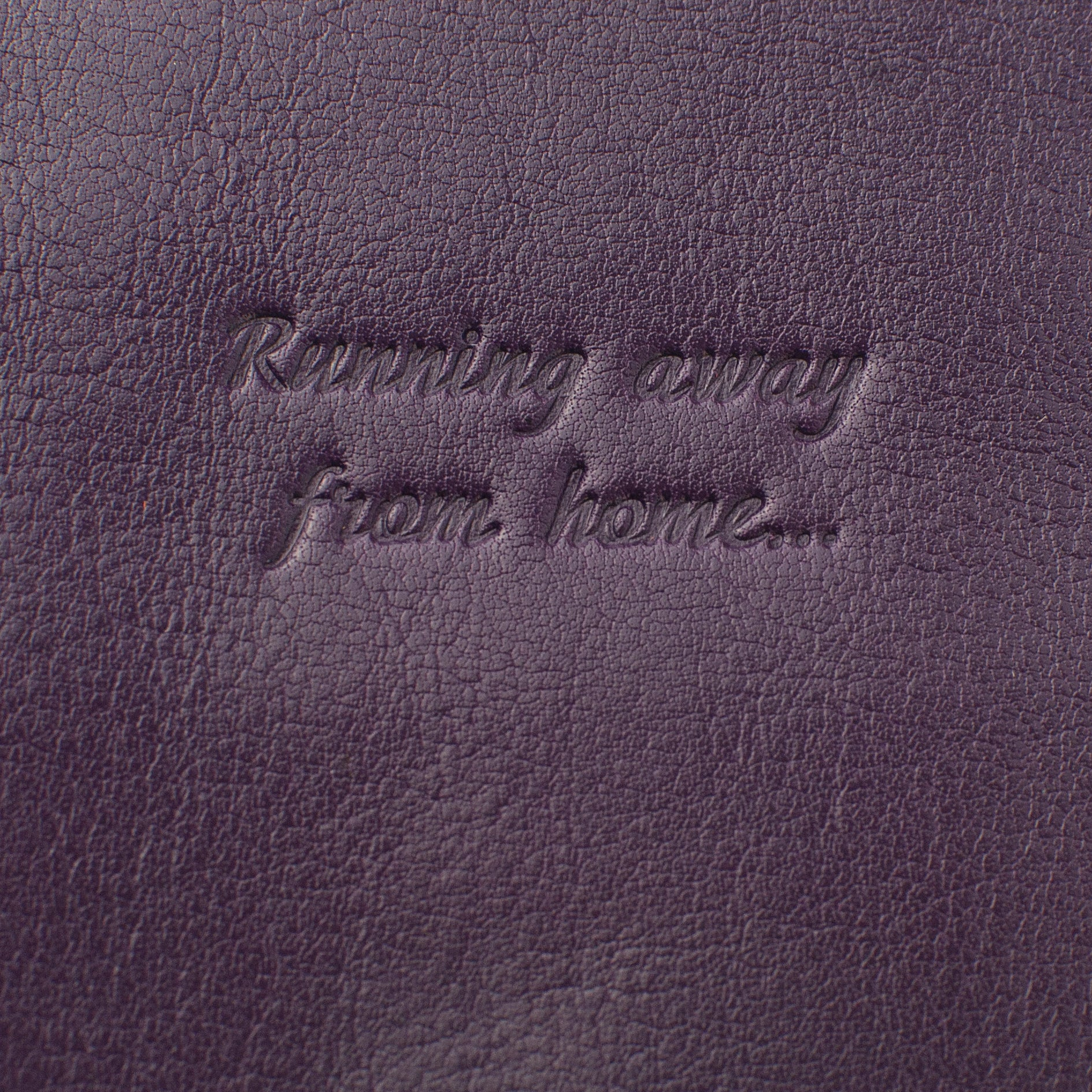 Deluxe Passport Cover with Card Slots ~ Eggplant Purple Genuine Leather