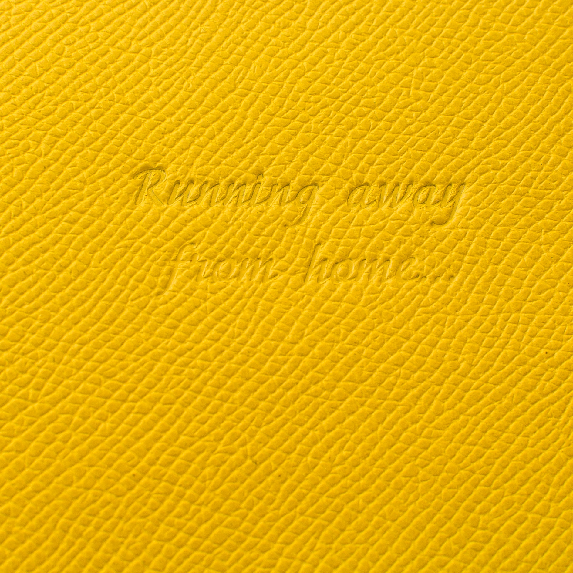 Deluxe Passport Cover with Card Slots ~ Sunshine Yellow Genuine Leather