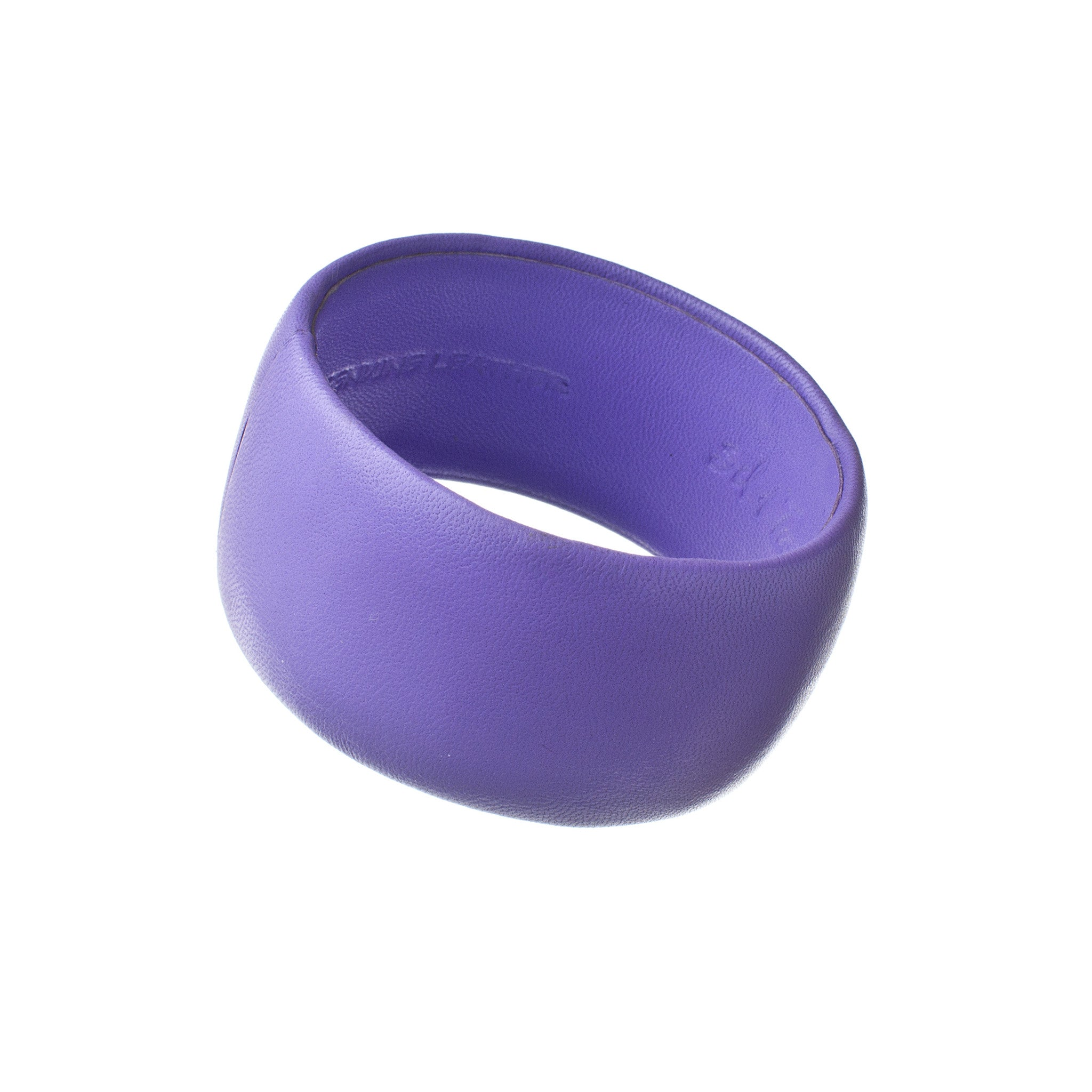 Dusty Purple Leather Bracelet ~ Bella Wide Bangle