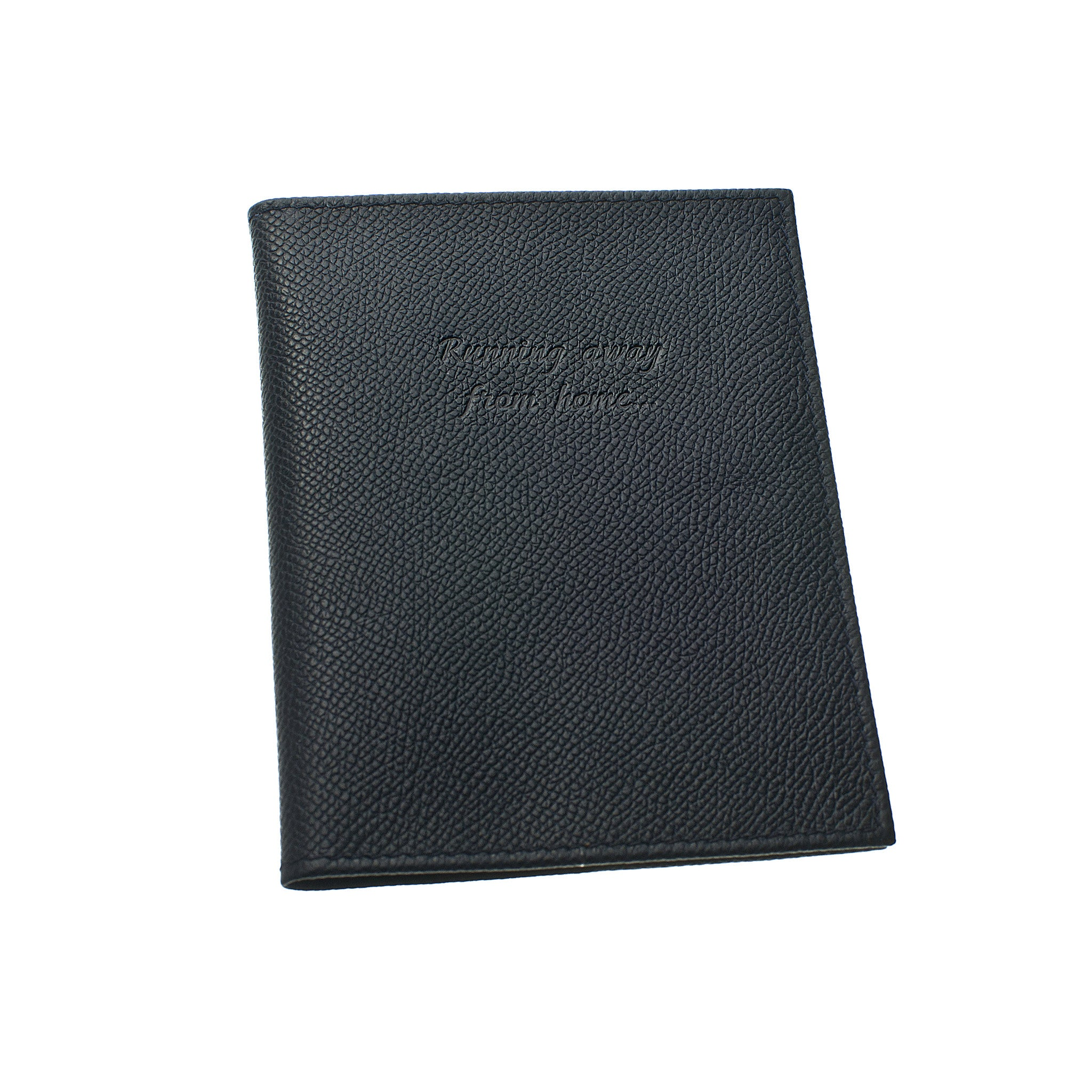 Classic Passport Cover ~ Almost Black Genuine Leather