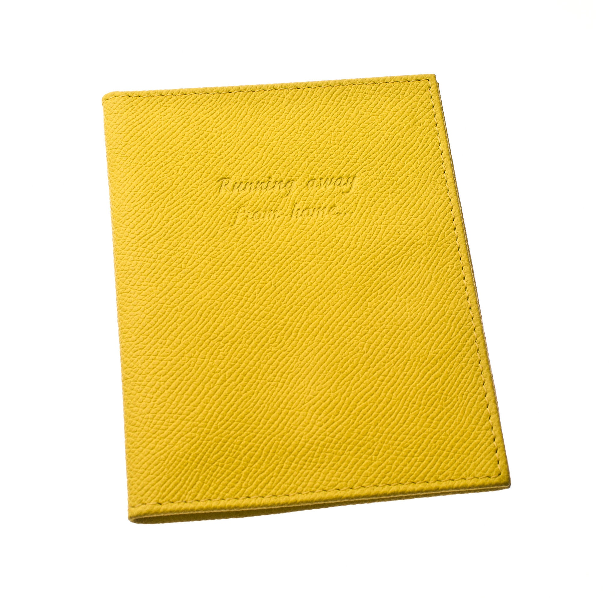 Classic Passport Cover ~ Sunshine Yellow Genuine Leather