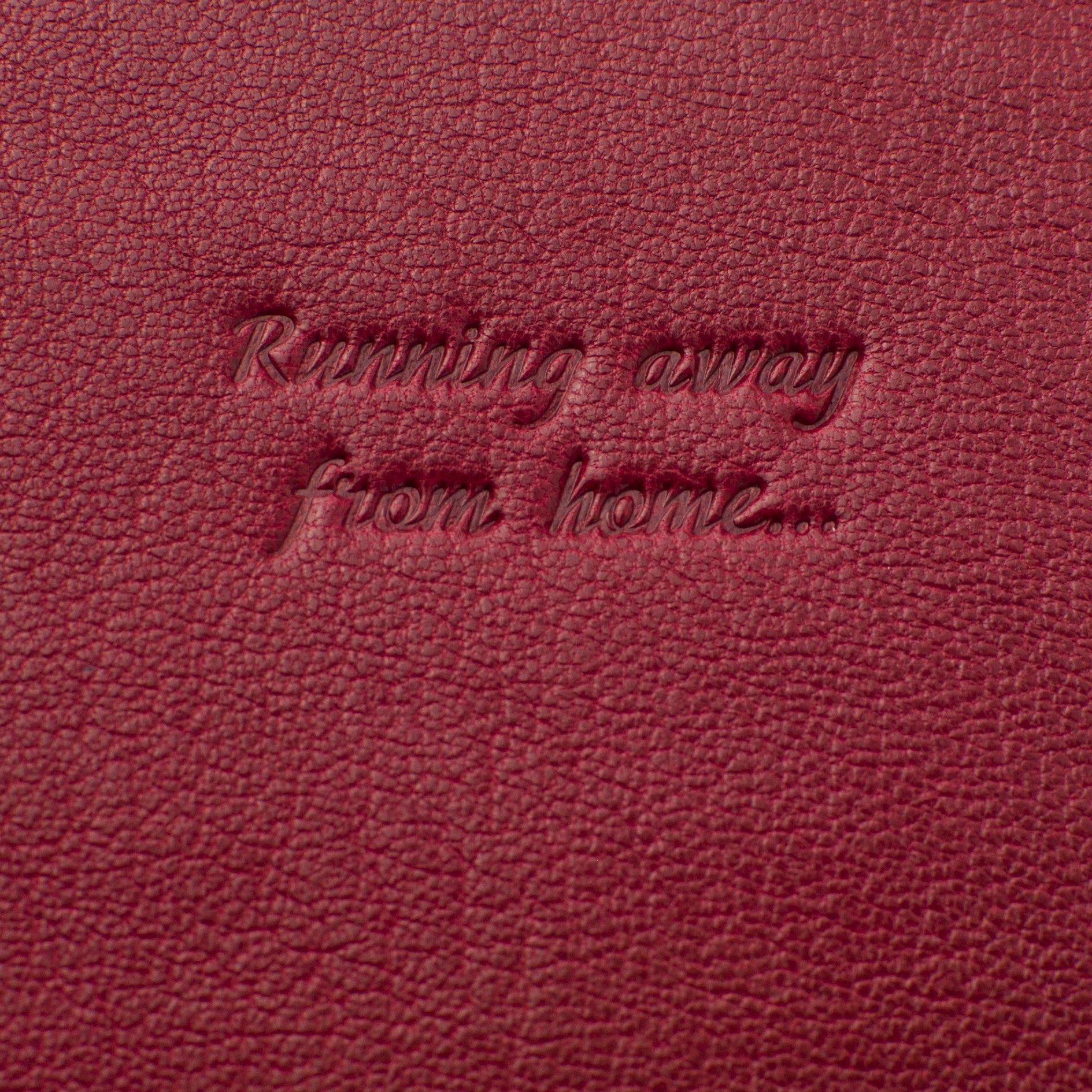 Classic Passport Cover ~ Raspberry Red Genuine Leather