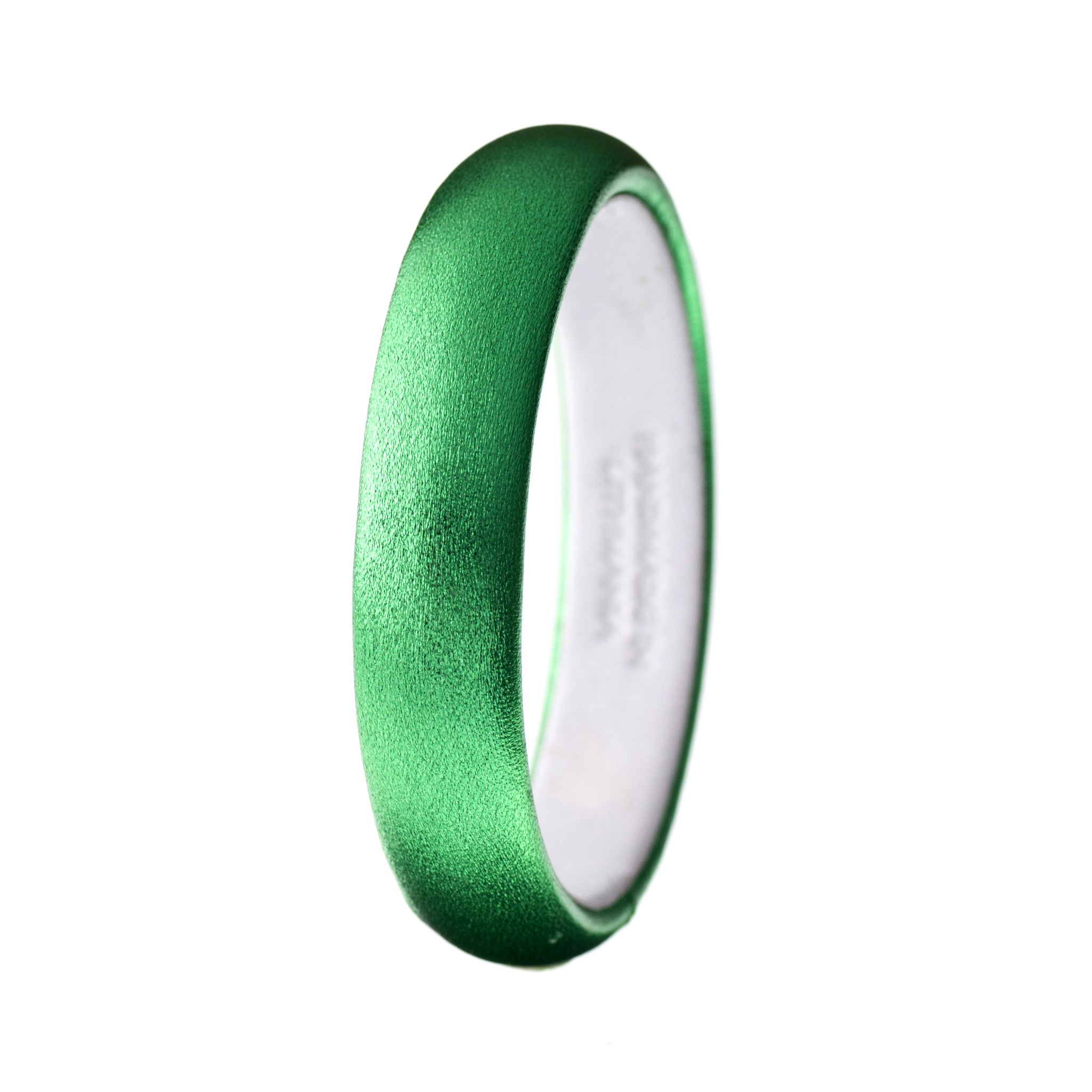 The Aria Bangle ~ Metallic Emerald Lambskin Leather Bangle Bracelet (2013 color of the year!)