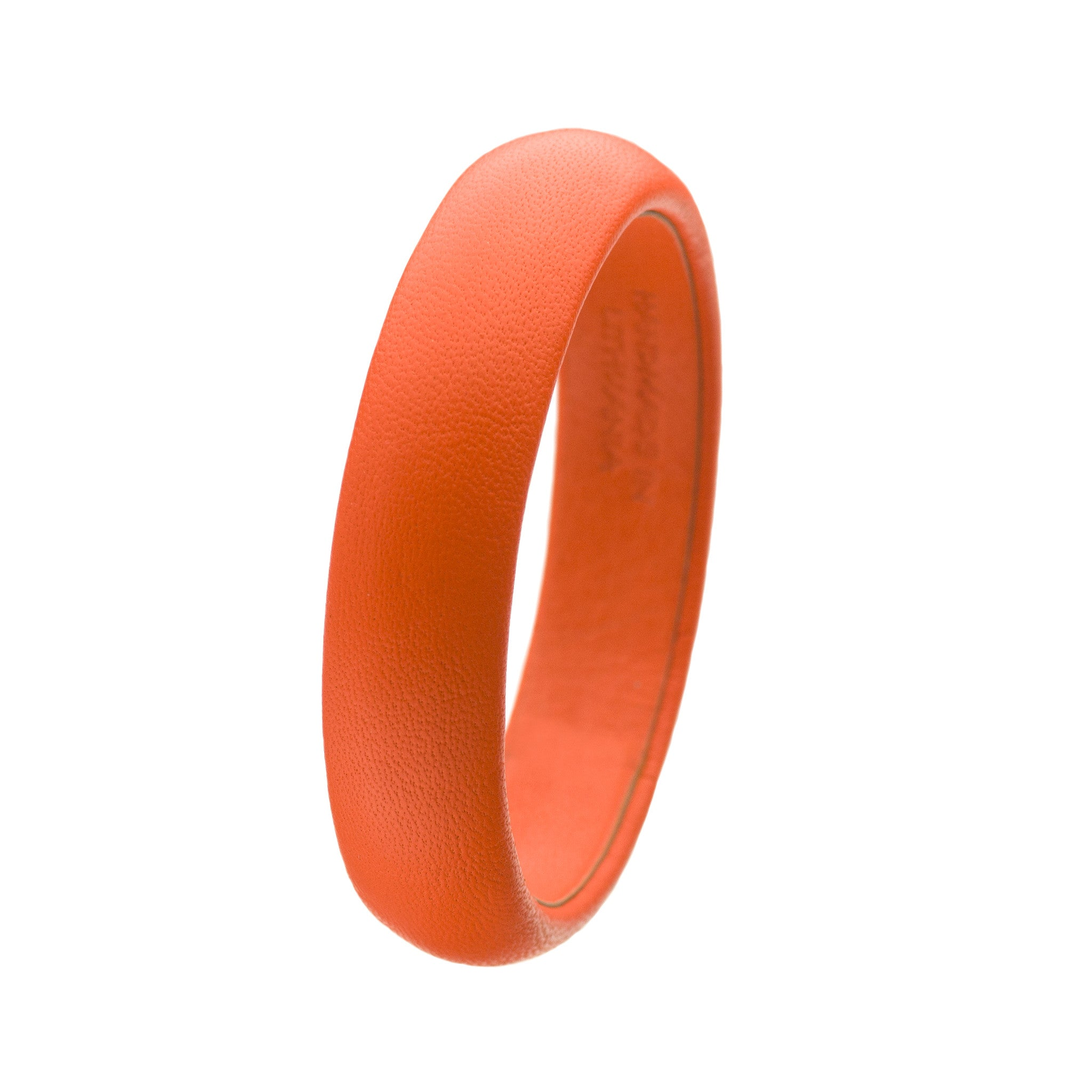 Fluorescent Neon Orange Leather Bangle Bracelet sd1Twenty5 single