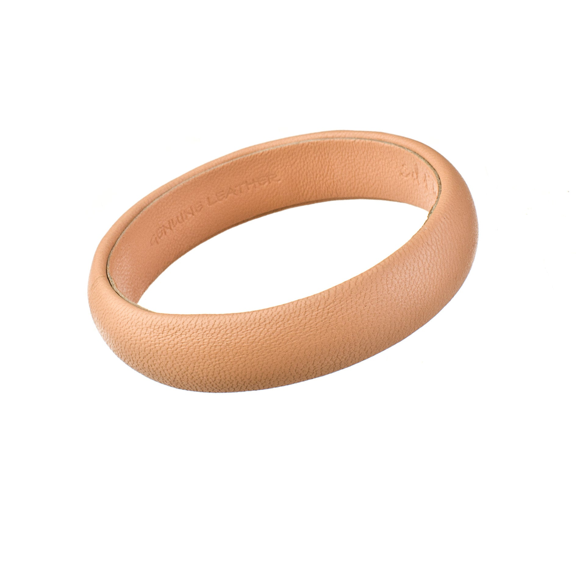 Nude Peach Narrow Leather Bangle Bracelet sd1Twenty5 single