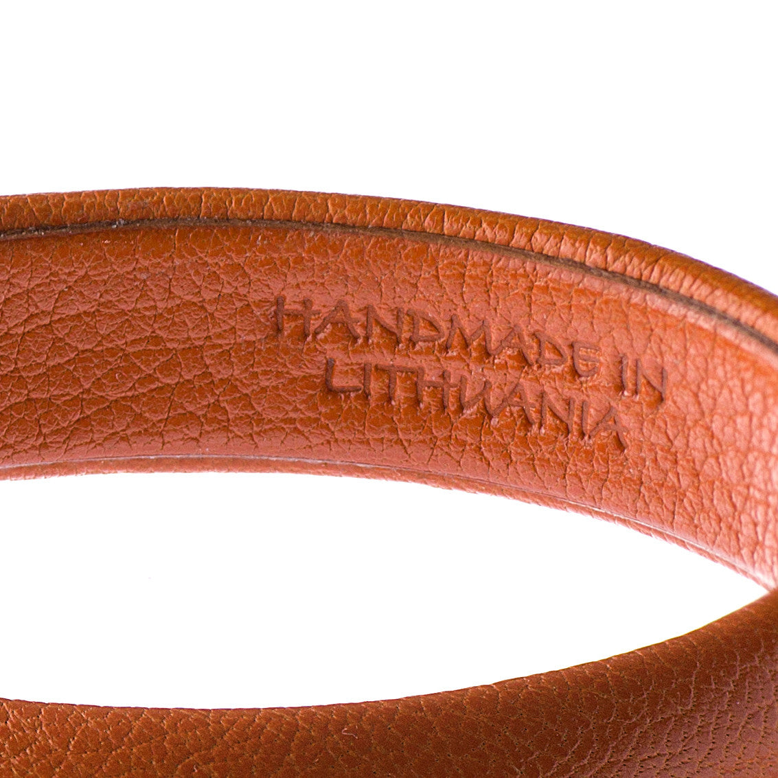 Orange Leather Bangle Bracelet Hermes inside made in Lithuania sd1Twenty5