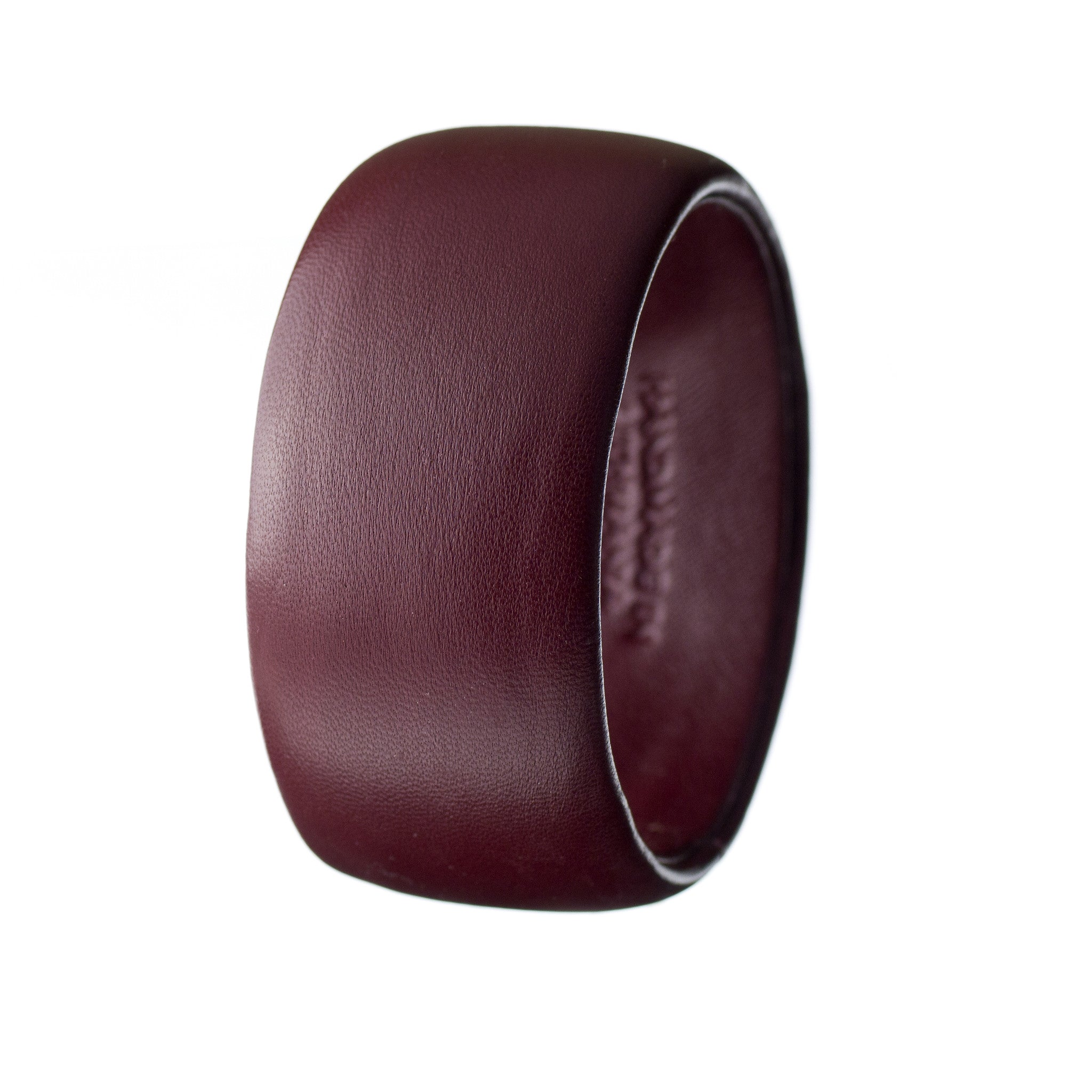 Burgundy Lambskin Leather Bangle Bracelet ~ Bella Wide Bangle