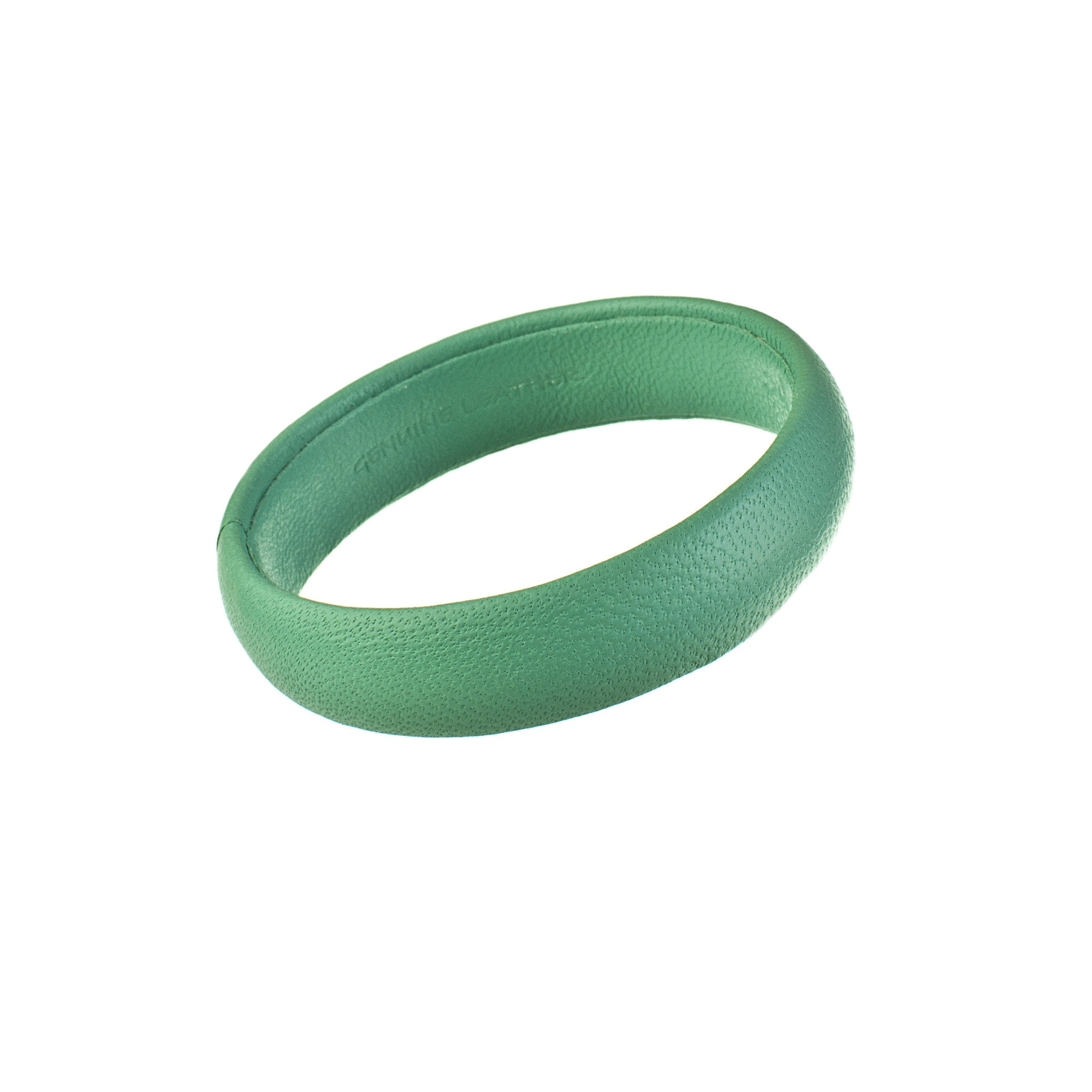 Seafoam Green Blue Narrow Leather Bangle Bracelet sd1Twenty5 single