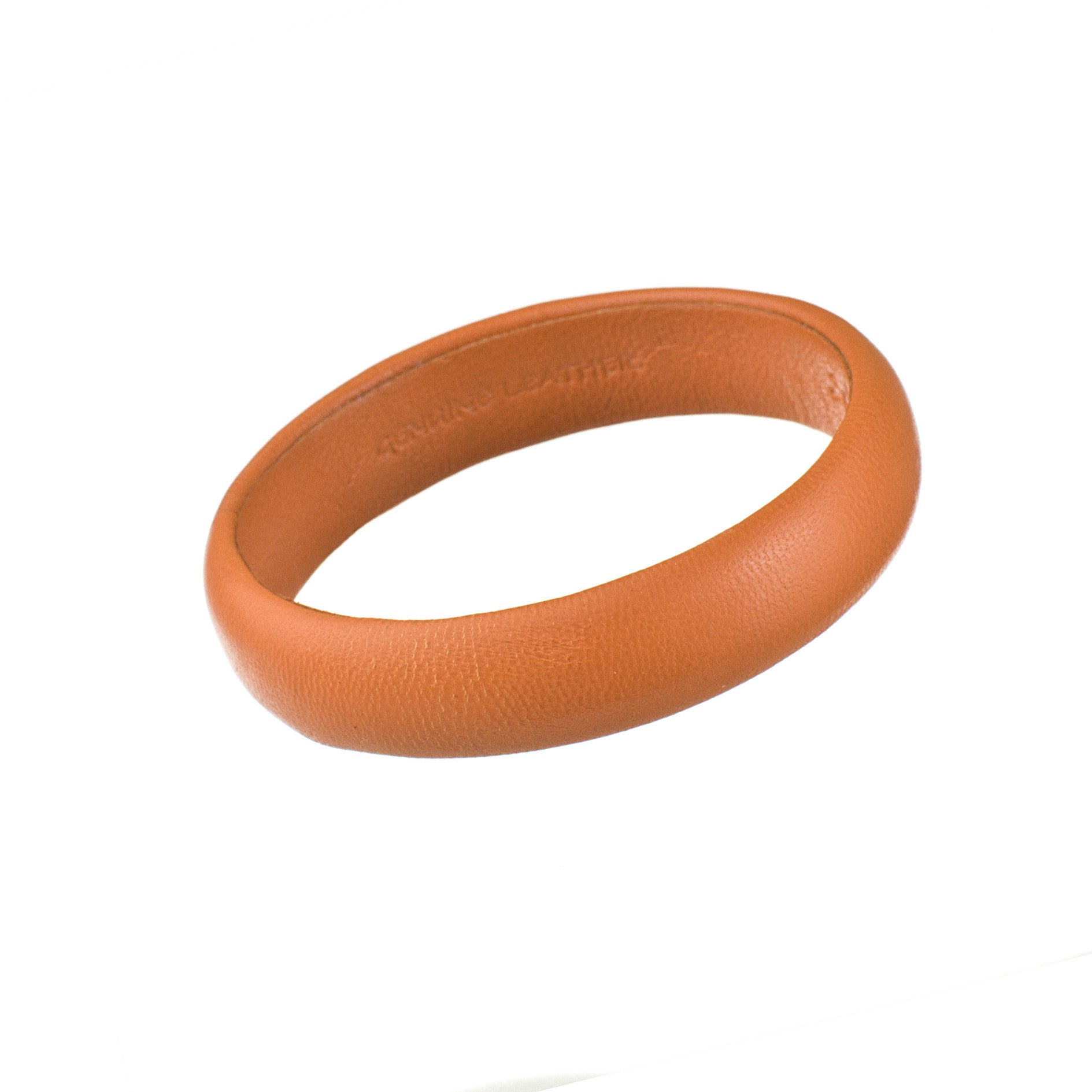 Vintage Orange Petite Leather Bangle Bracelet sd1Twenty5 single