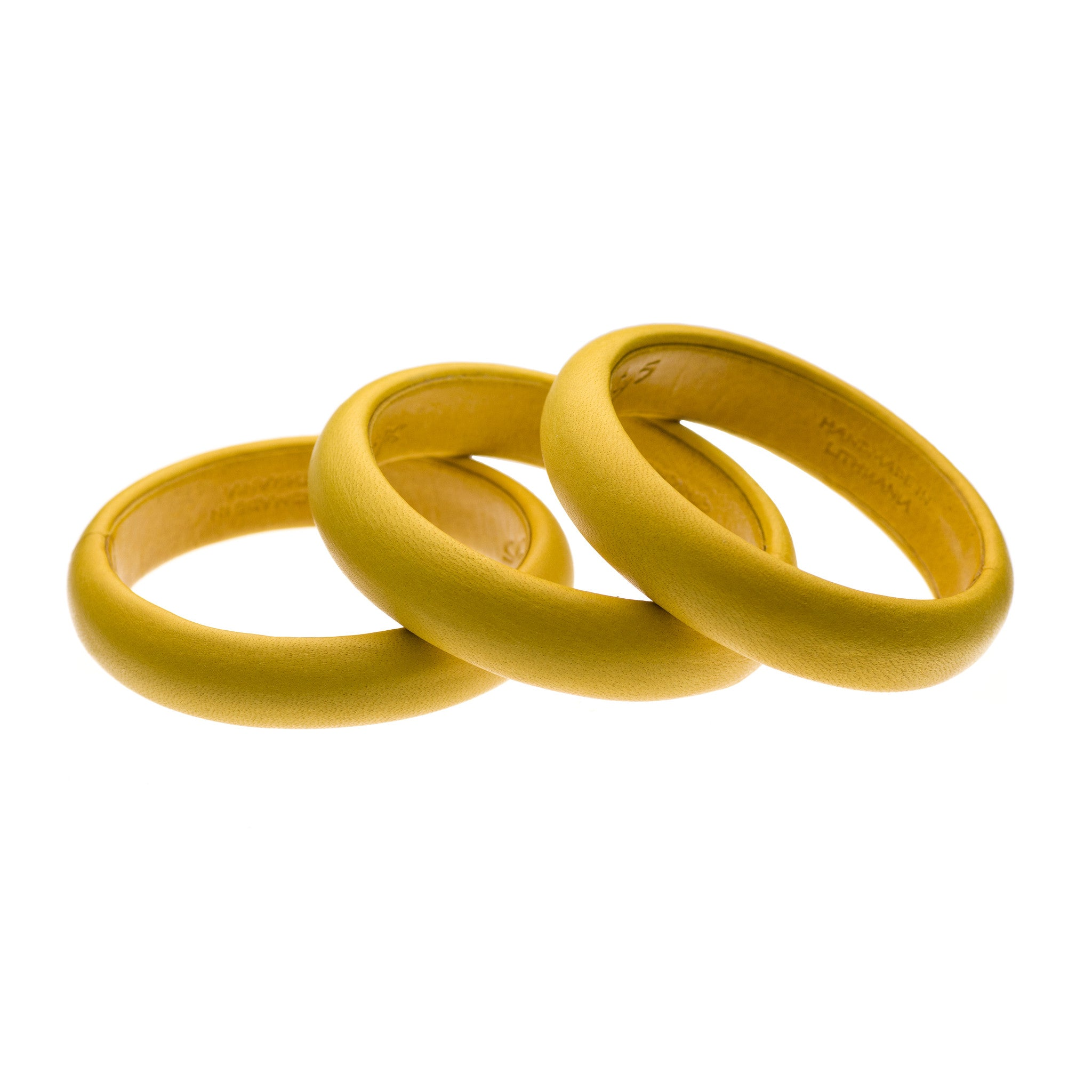 Yellow Leather Bangle Bracelet stack sd1Twenty5