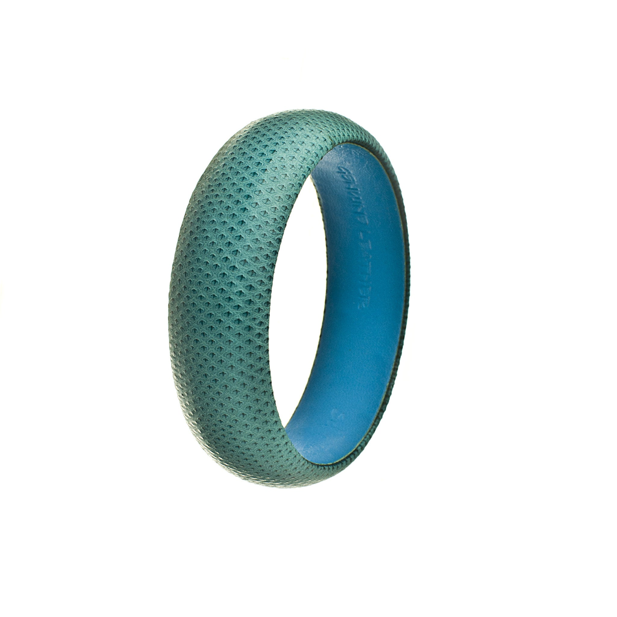 blue snakeskin leather medium bangle single