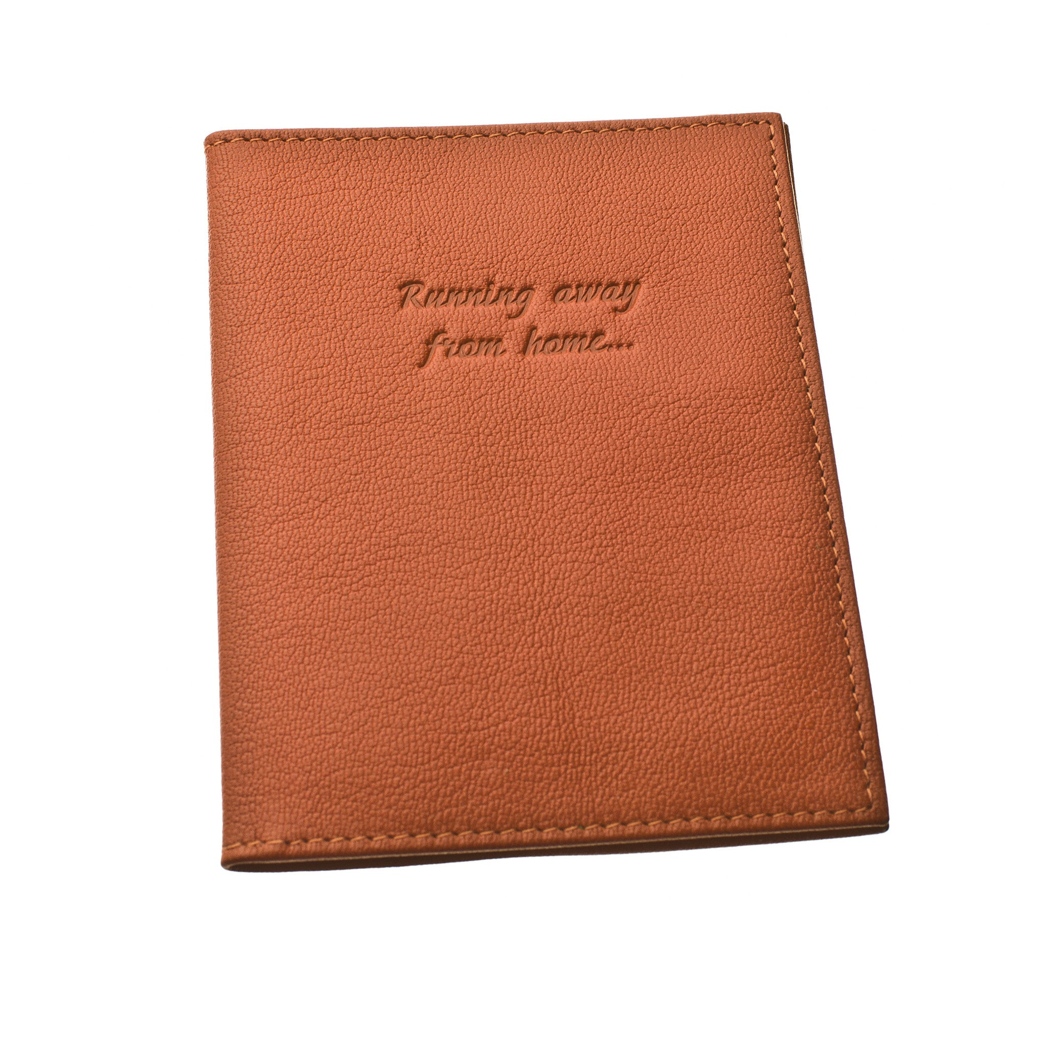 Classic Passport Cover ~ Burnt Orange Genuine Leather