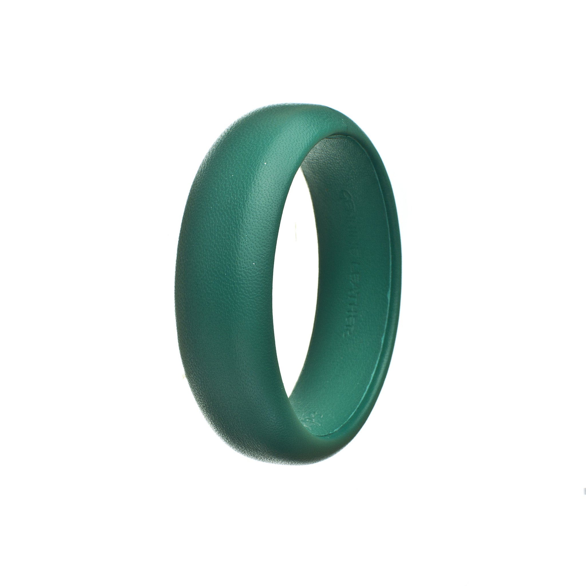 teal blue green leather bracelet single