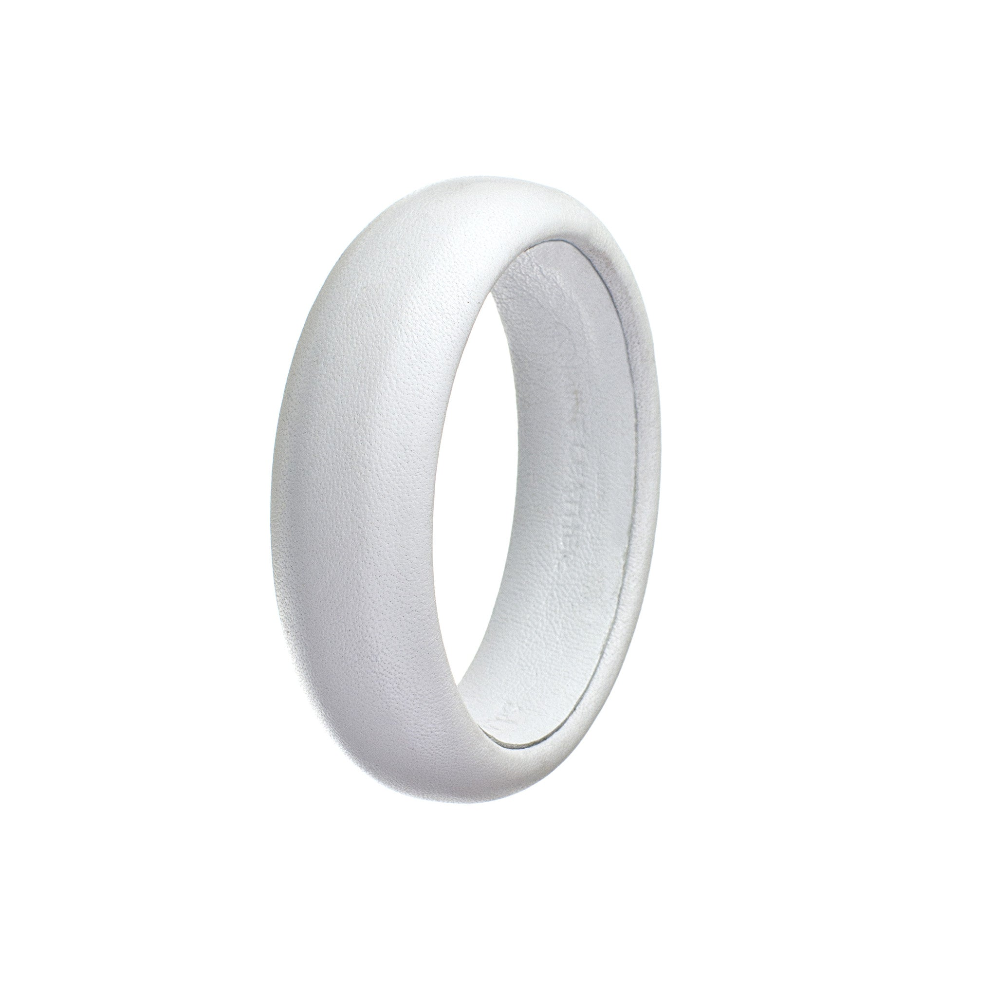 white leather bracelet single
